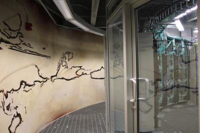 Etienne Cliquet, 'Allée froide – datacentre d'art', peinture murale supercalculateur Le Colosse, Québec, 2013 – coproduction BBB centre d'art et La Chambre Blanche